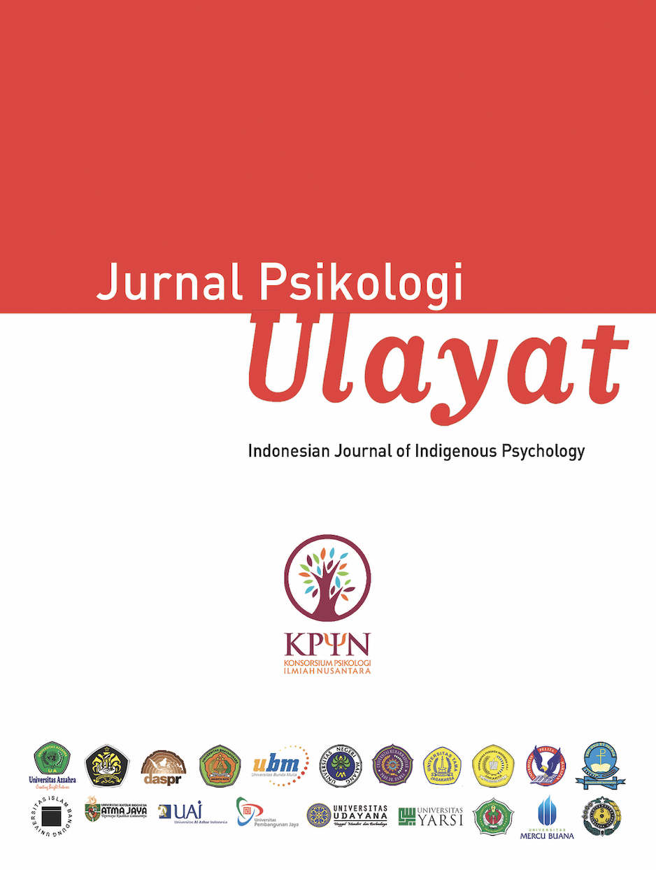 Jurnal Psikologi Ulayat Indonesian Journal Of Indigenous Psychology